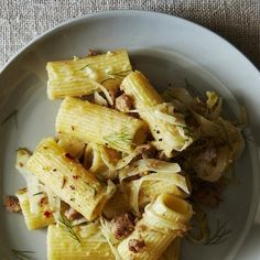 Rigatoni with Fennel and Veal Sausage