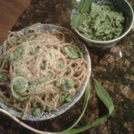 Ramp and Watercress Pesto with Spring Has Sprung Pasta, part deux