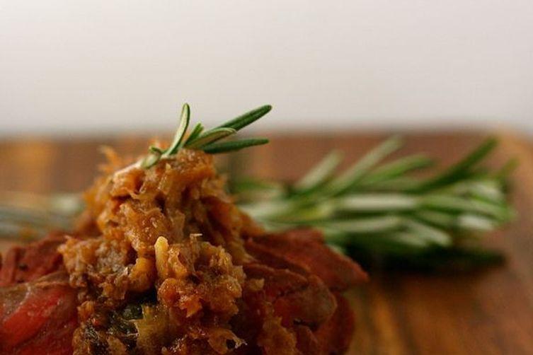 Beef Tenderloin with Shallot Marmalade