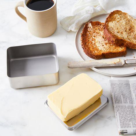 Modern Stainless Steel Butter Dish