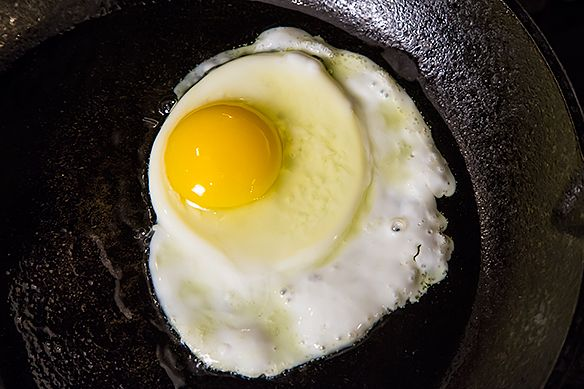 Frying egg