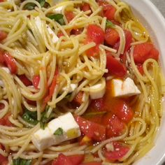 Warm and Spicy Pasta Caprese