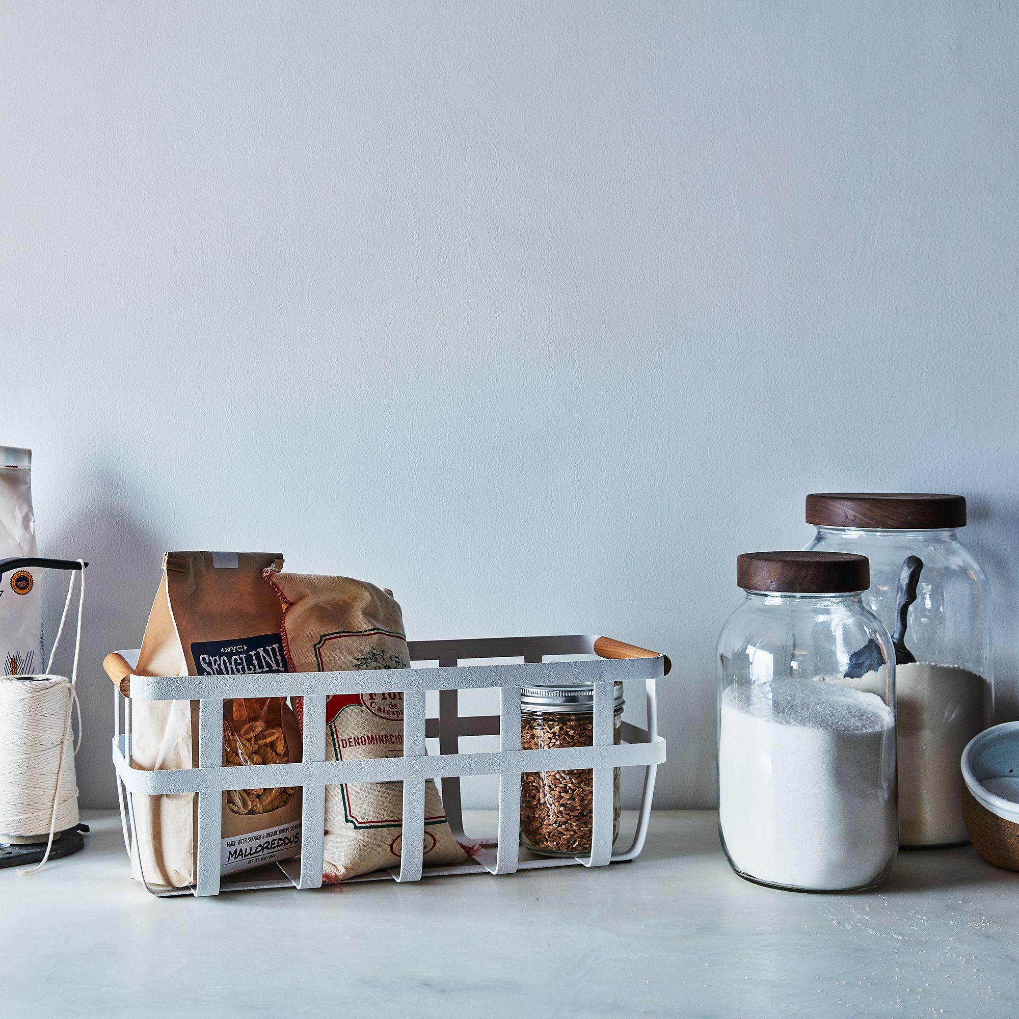 Steel & Wood Storage Basket on Food52