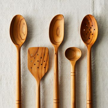wooden kitchen utensils set Five Two Wooden Spoons From Food52s Product Line On Food52