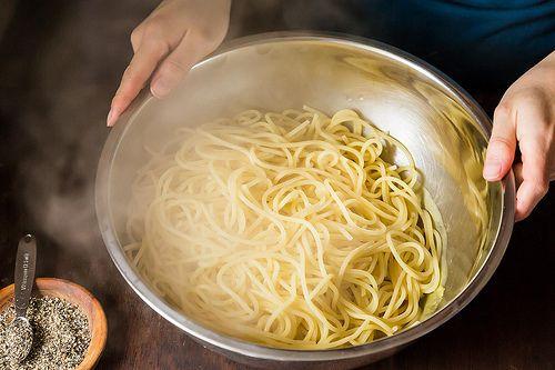 Dumping pasta