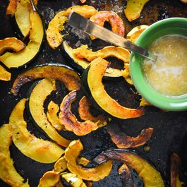 Roasted Squash With Maple Ginger Glaze
