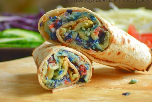 Cabbage (Dyed) Omelette Wrap