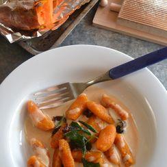 Butternut squash and Yam Gnocchi