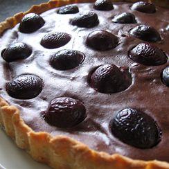 Everyday Chocolate-Cherry Tart