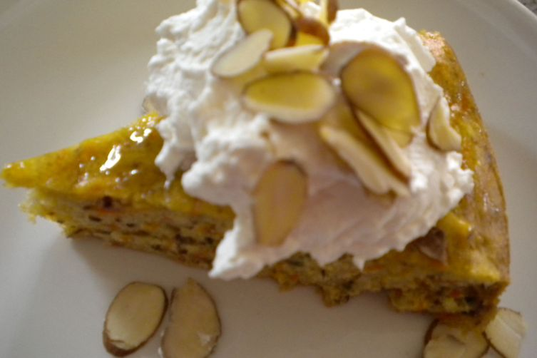Carrot Almond Cake Glazed with Honey