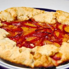 Cinnamon-Spiced Plum Crostada