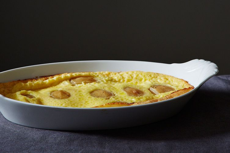Poached pear clafoutis from Food52