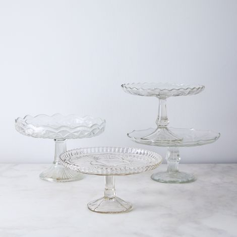 Vintage Found Glass Cake Stand