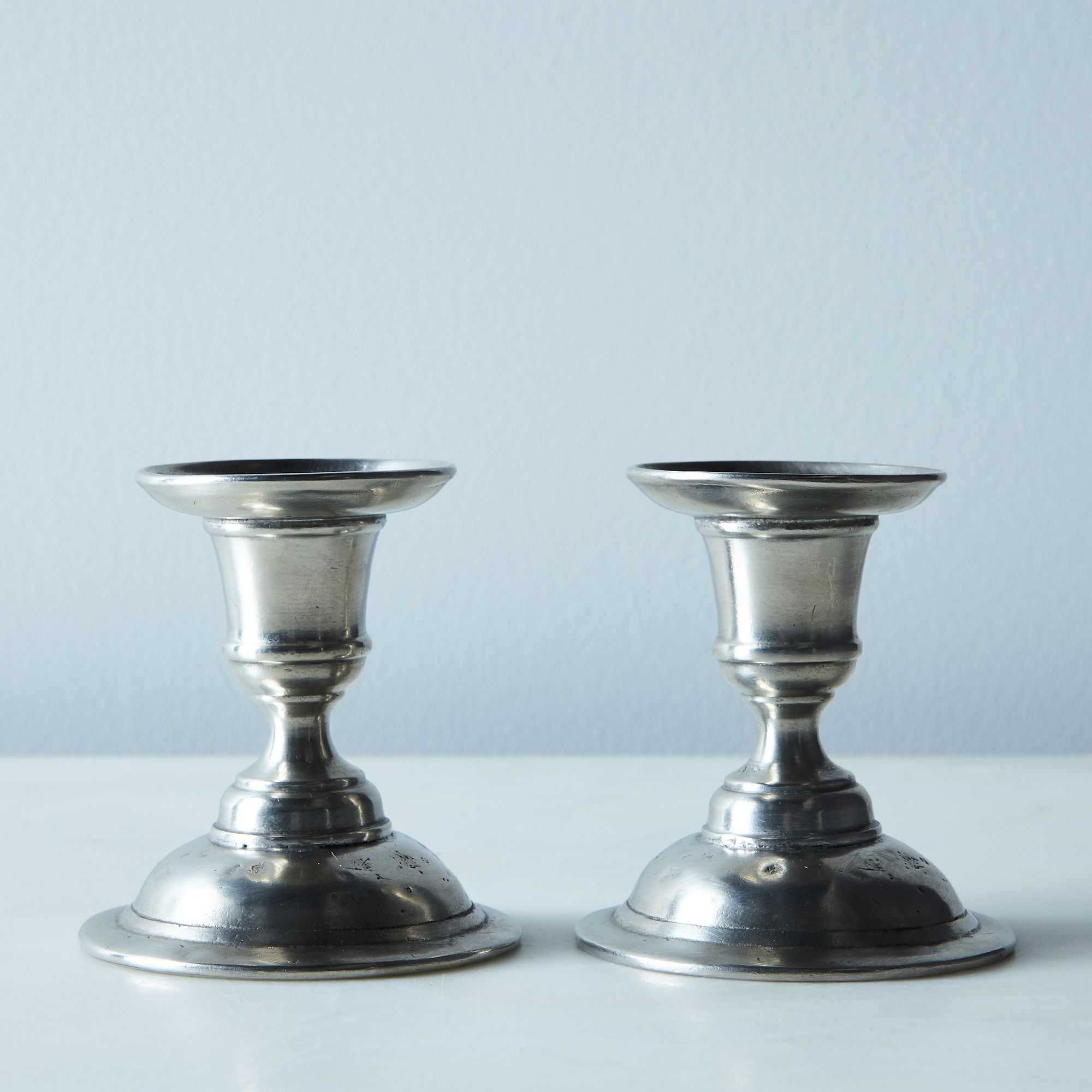 Martina pewter candlestick holders set of 2 on food52