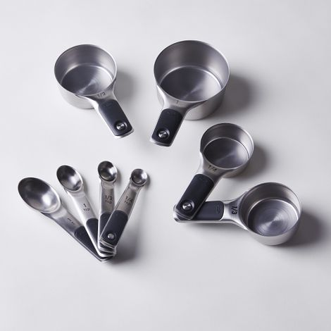 OXO 8-Piece Stainless Steel Measuring Cups and Spoons Set