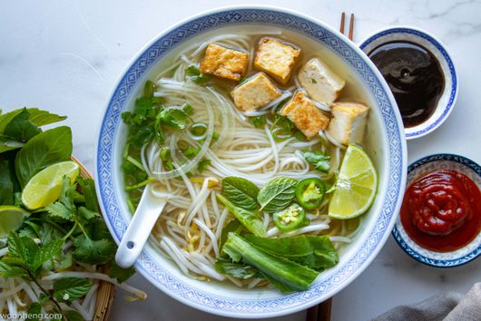 Vegan Pho With Tofu & Herbs
