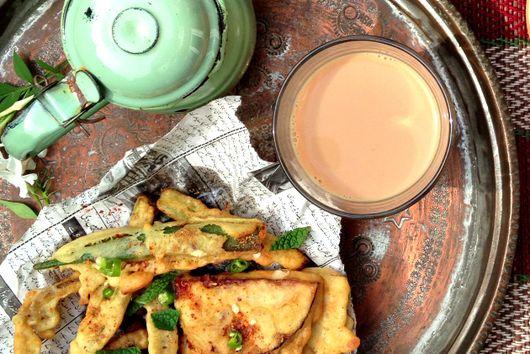 Monsoon Spiced Vegetable Pakoras (crispy batter dumplings)