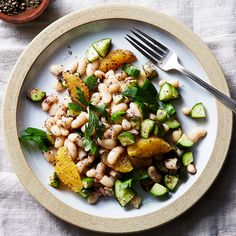 White Bean with Cucumber and Sumac Salad