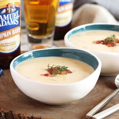 Smoked Cheddar and Pumpkin Beer Soup