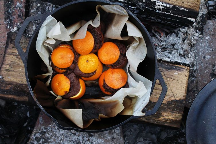 Chocolate Orange Campfire Cakes