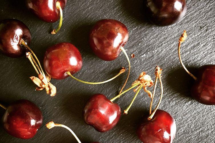 Classic French cherry soufflé