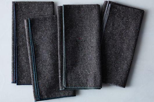 Heathered Charcoal Napkins (Set of 4)