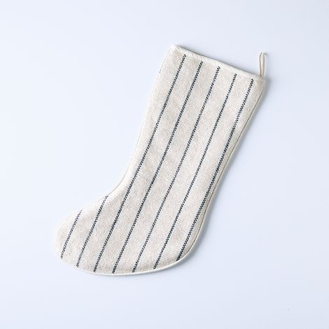 Handmade Maine Weave Linen Stocking