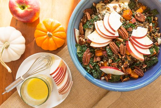 Wild Rice with Apples, Kale and Cider Vinaigrette