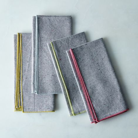 Heathered Grey Napkins (Set of 4)