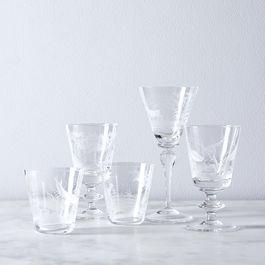 Nature & Marine Vintage Italian Crystal Glassware