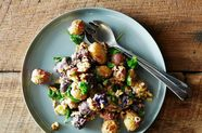 Roasted Potato Salad with Mustard-Walnut Vinaigrette