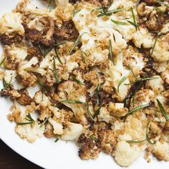 Roasted Cauliflower with Breadcrumbs and Fried Rosemary