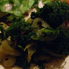 Cumin Scented Kale with Onions, Tomatoes and Mushrooms (Vegan and Gluten Free)