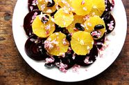 Beet, Orange, and Black Olive Salad