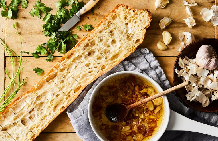 The Garlickiest Garlic Bread Only Needs 5 Ingredients