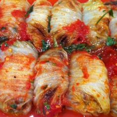 Sweet and Sour Braised Pork Stuffed Napa Cabbage Rolls