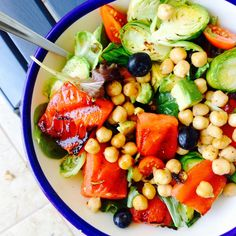 Grilled Watermelon Superfood Salad