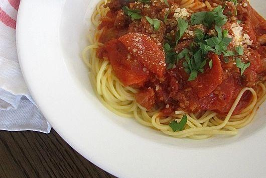 Grandma's Pepperoni Spaghetti Sauce
