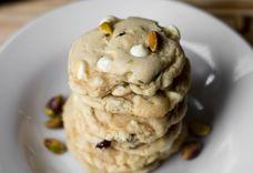 Cranberry White Chocolate Chip Pistachio Cookies