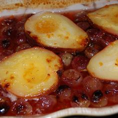 Asti Roasted Pears and Grapes with Amaretti Crumbles