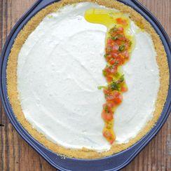 No-bake savory cream cheese pie