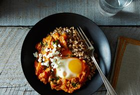 Shakshuka with Grains and Feta
