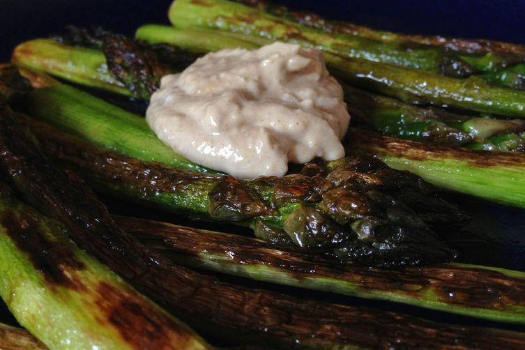 Griddled Asparagus + Preserved Lemon Tahini Sauce Recipe on Food52