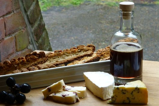 Bread 'n cheese with Conifer Syrup