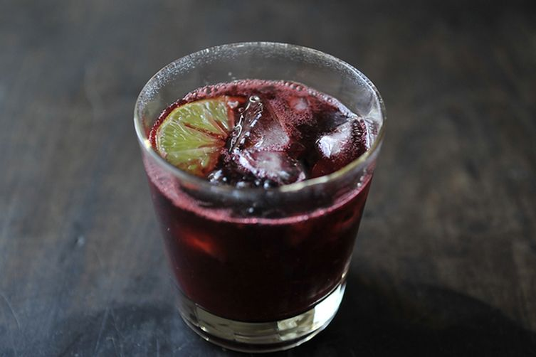 blackberry caipirinias