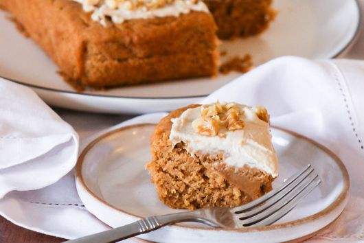 Sweet Potato Cake with Cashew Cream Cheese Frosting