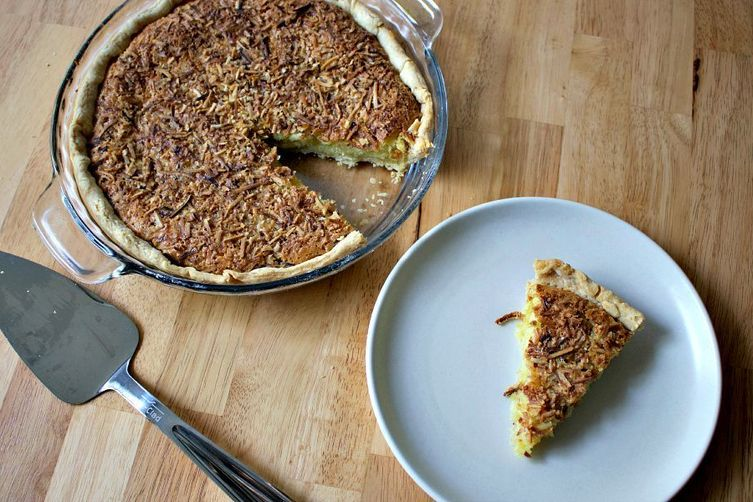 Coconut Lemongrass Chess Pie