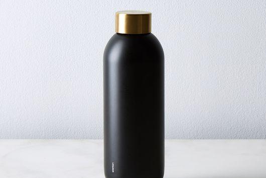 Stelton Black & Brass Stainless Steel Water Bottle