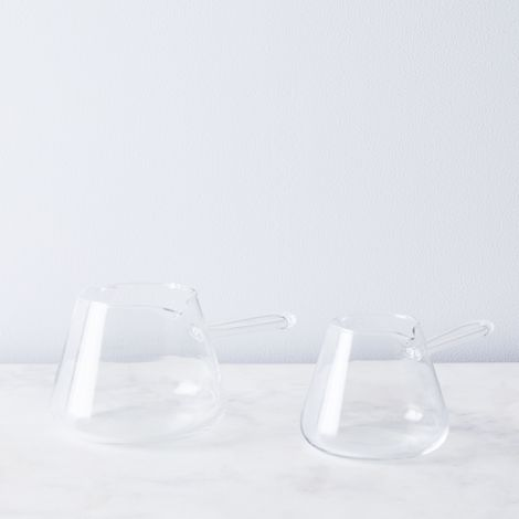 Borosilicate Glass Butter Warmer Set