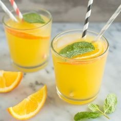 Orange Mint Coconut Water